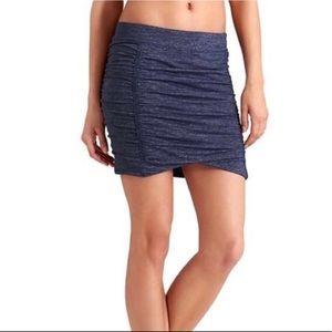Athleta Twisted Mini tube Skirt Blue Size XS